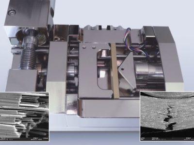 Moduł zginający 200N- 5000N dla 3 i 4 punktowego zginania (widok boczny)